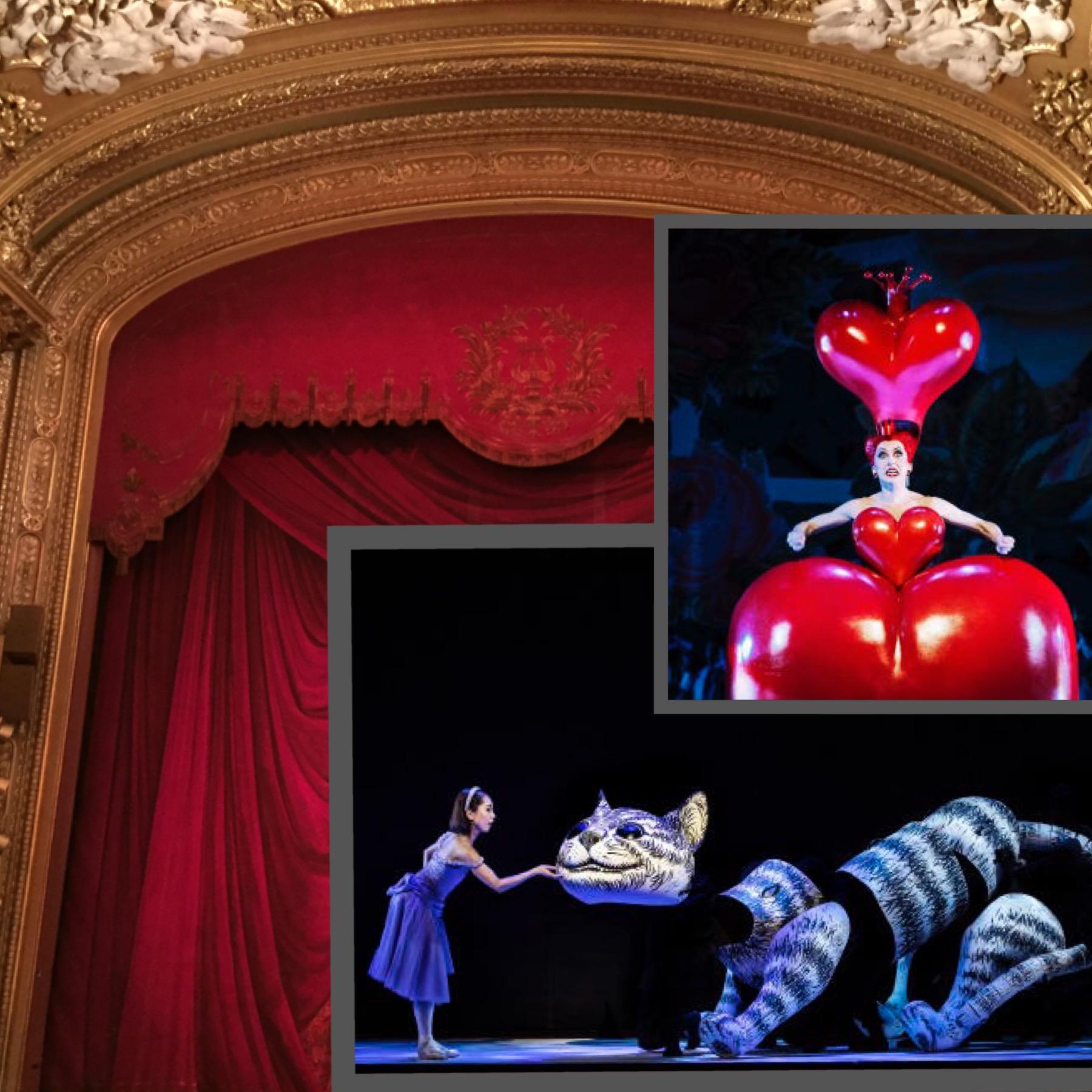 Bildkollage. De små bilderna: Kungliga Operans pressbilder. Bakgrundsbilden: ScribLifes egen!
